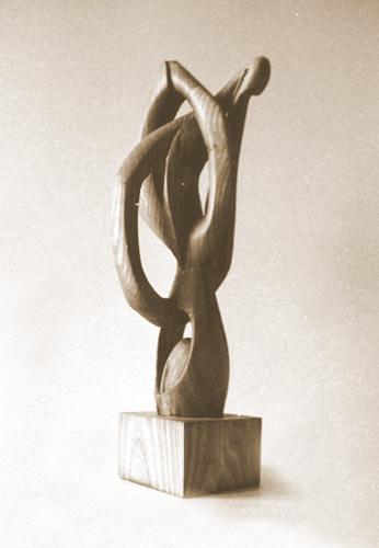 sculpture bois poirier