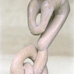 sculpture bois chêne cérusé