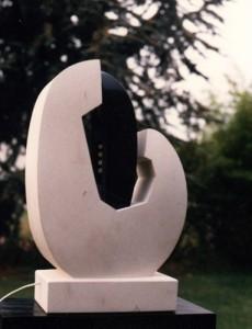 sculpture pierre et bois