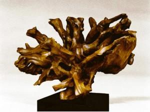sculpture bois orme
